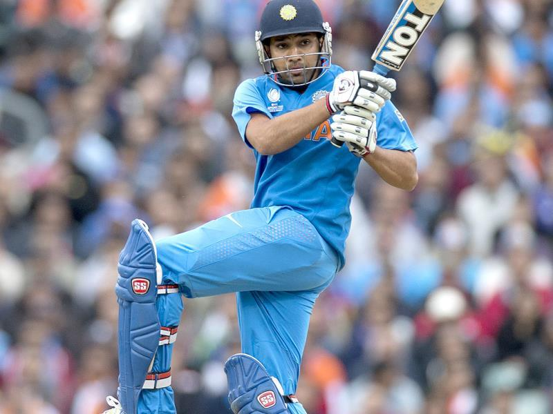 Rohit Sharma during the ICC Champions Trophy match between India and West Indies in London. AP