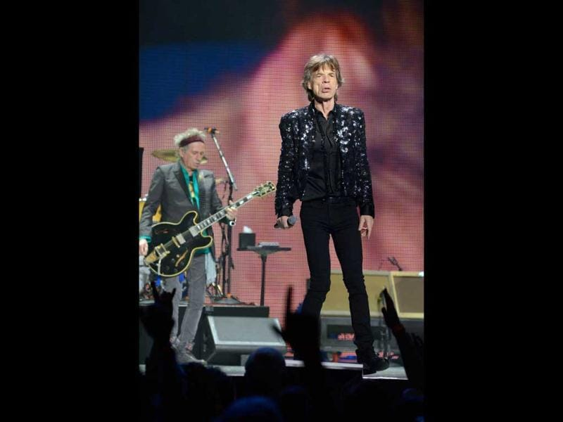 Mick Jagger of the Rolling Stones performs at TD Garden in Boston, Massachusetts. (AFP)