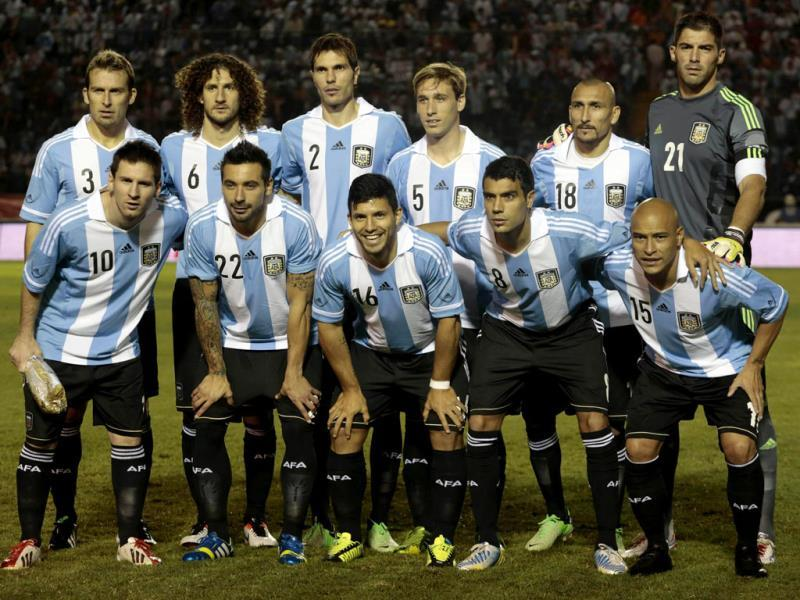 Argentina football team pose for a photo before a friendly soccer match against Guatemala in the Mateo Flores stadium in Guatemala City. Reuters