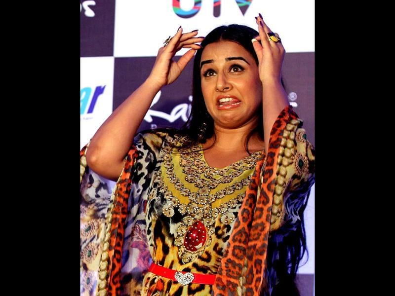 Vidya Balan shows just how expressive her face can be! (AFP Photo)