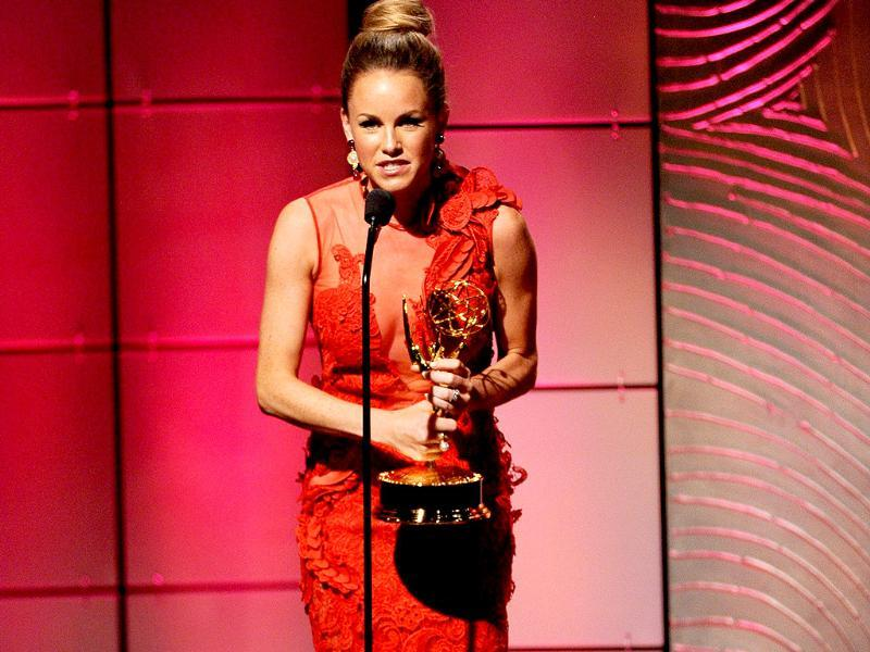 Actress Julie Marie Berman accepts the Outstanding Supporting Actress in a Drama Series award for