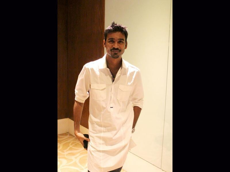 Dhanush meets and greets (HT Photo)