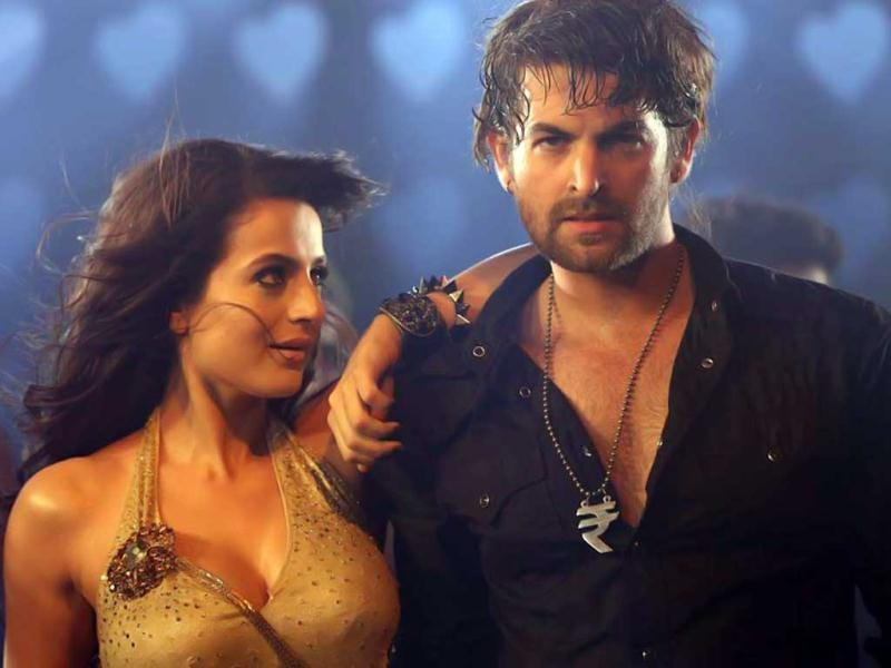 Ameesha Patel and Neil Nitin Mukesh sweating it out for Shortcut Romeo. The film also stars Puja Gupta.