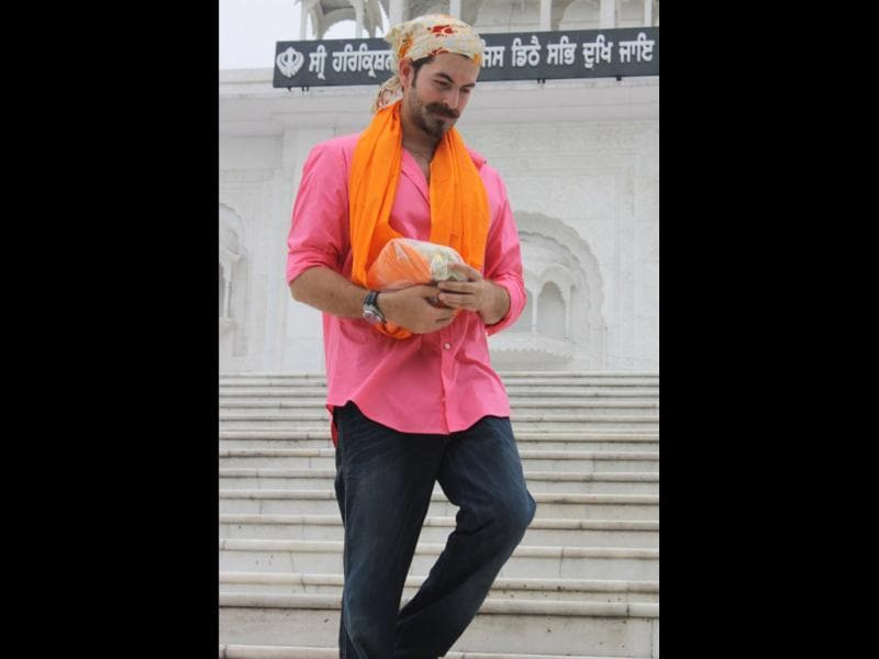 Actor Neil Nitin Mukesh in Delhi.