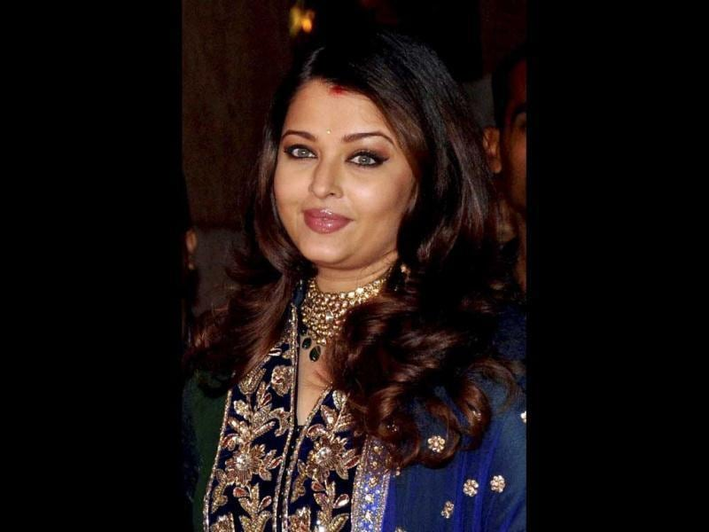 Aishwarya in yet another Indian look. (AFP Photo)