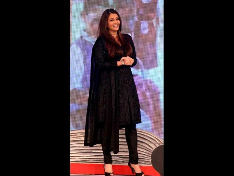Black anarkali again! (AFP Photo)