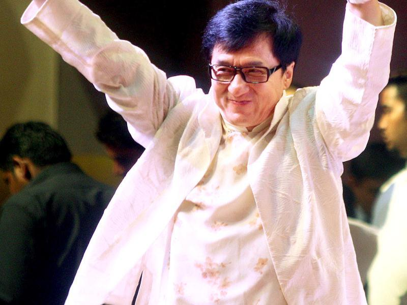 Jackie Chan waved to an extremely excited and enthusiastic audience and later even sang a Chinese song for them.
