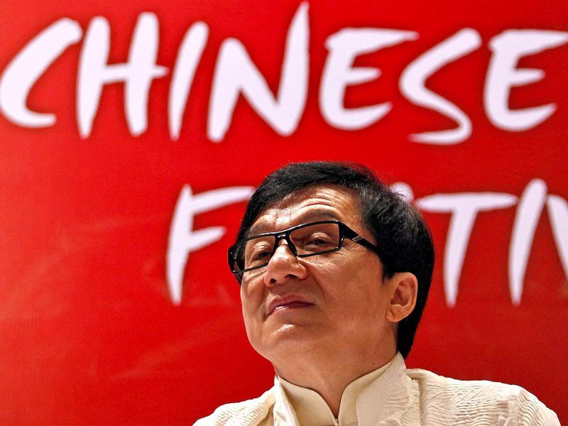 Actor Jackie Chan was all ears as the media threw questions at him at the inauguration day of the China Film Festival in New Delhi June 18, 2013. (Reuters)