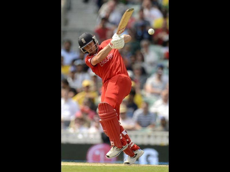 England's Jonathan Trott hits the ball during the ICC Champions Trophy semifinal match against South Africa at The Oval , London . Reuters