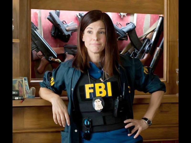 Sandra Bullock had also played a cop in the 2000 comedy Miss Congeniality.