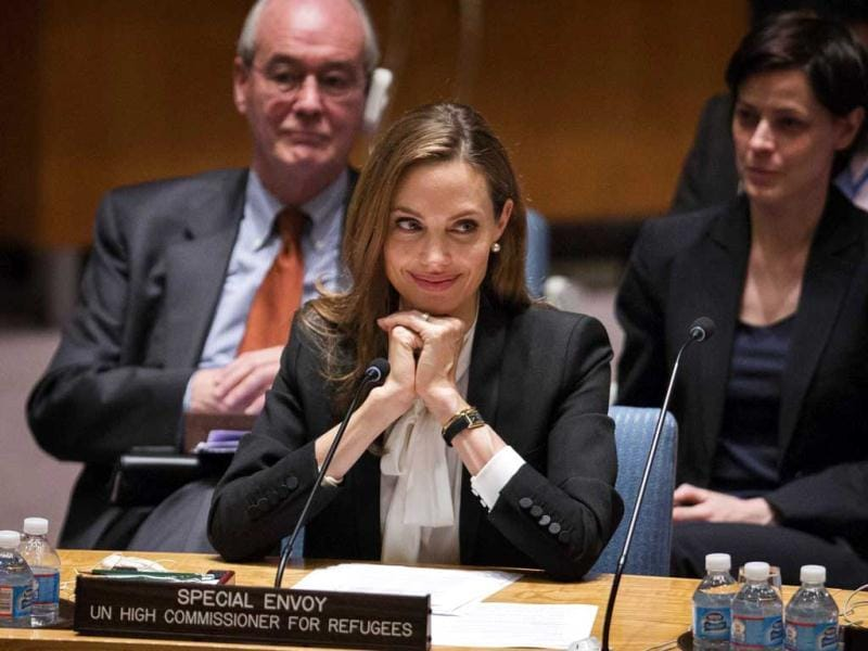 United Nations High Commissioner for Refugees (UNHCR) Angelina Jolie made her debut before the Security Council at the U.N. headquarters as a special envoy a recent conference. Take a look. (Reuters Photo)