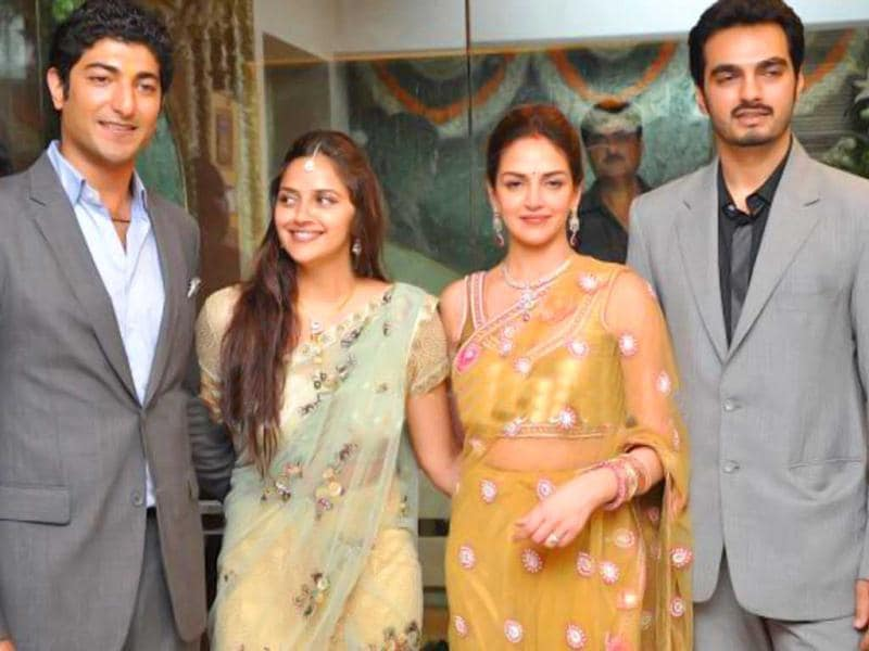 Hema Malini and Dharmendra's younger daughter Ahana has got engaged to businessman Vaibhav Vora in a private ceremony at their Juhu residence. Take a look! (Photo: Pinkvilla)