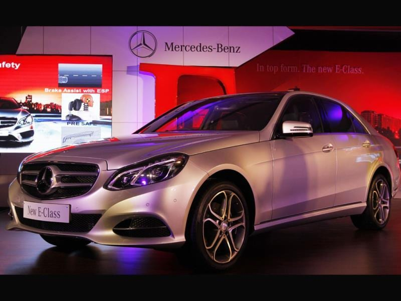 Newly launched E Class model of Mercedes-Benz, in New Delhi on June 25, 2013. Photo: HT/Sanjeev Verma