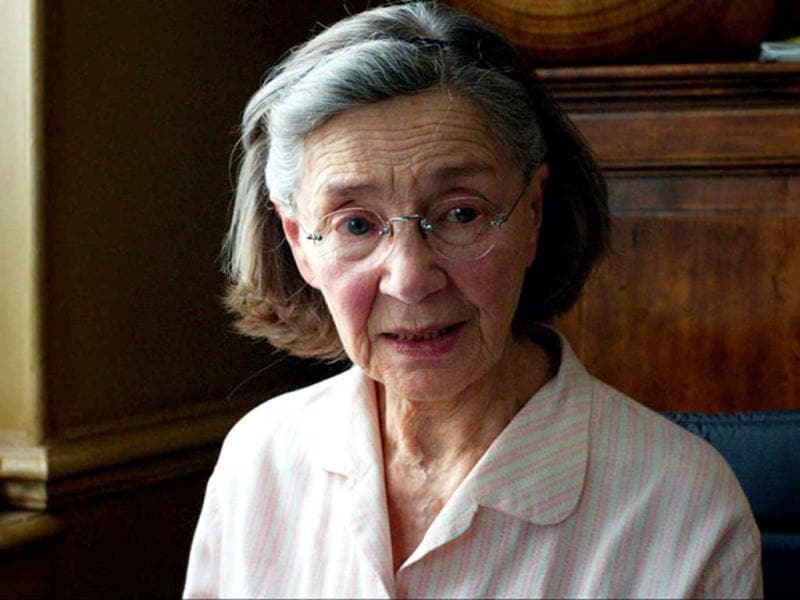 86-year-old Emmanuelle Riva, who played the retired music teacher Anne in Amour, was nominated for the Best Actress Oscar this year.
