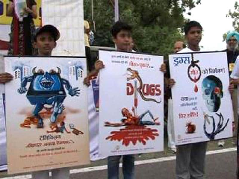 The national Capital held a 'run against drug abuse' on the 11th International day against Drug Abuse and Illicit Trafficking.