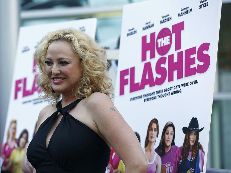 Cast member Virginia Madsen poses at the premiere of The Hot Flashes in Los Angeles, California. The movie opens limitedly in the US on July 12. Reuters