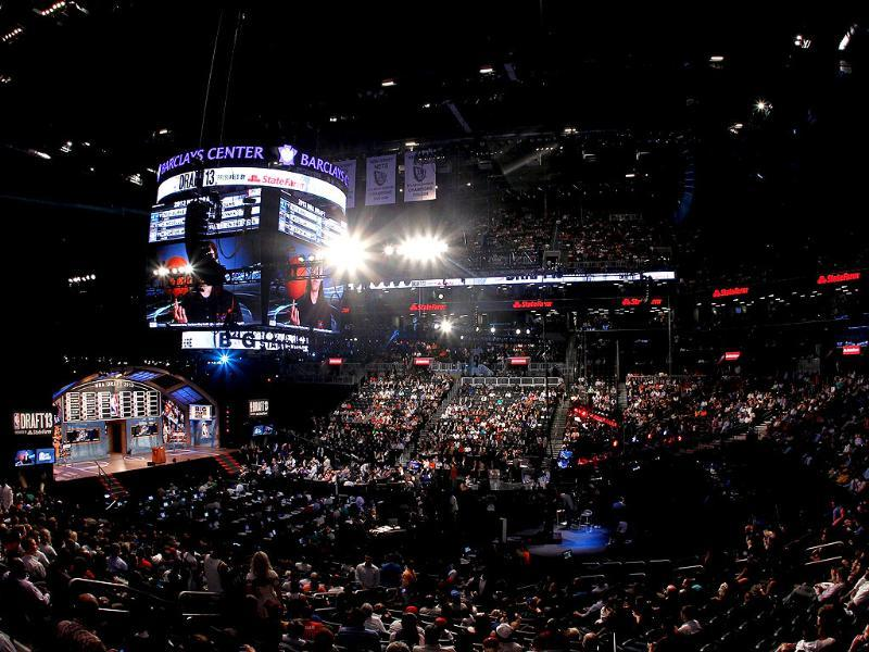 A general view of the draft floor during the 2013 NBA Draft at Barclays Center in the Brooklyn Bourough of New York City. AFP