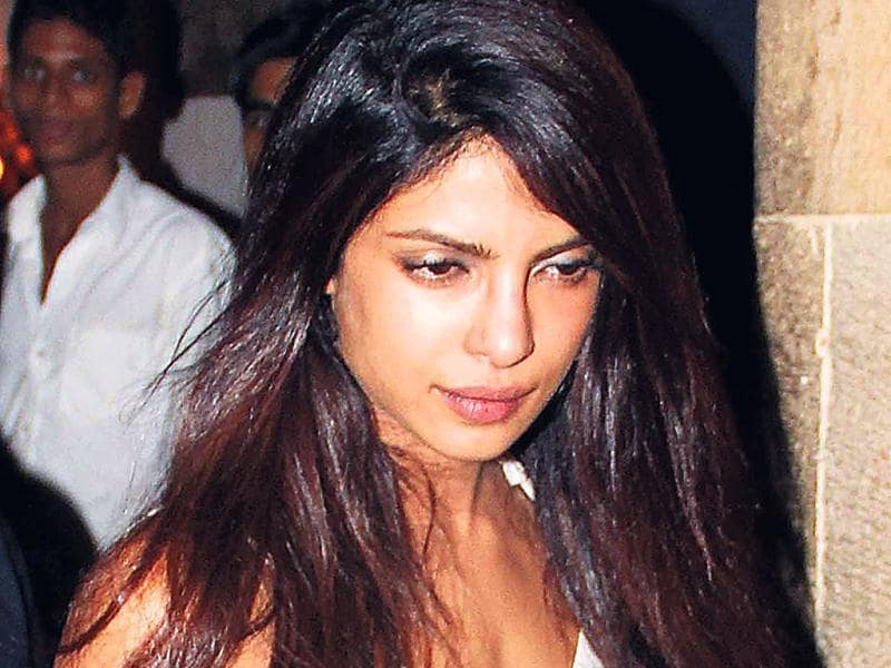 A sad-looking Priyanka Chopra was also spotted at the do. Priyanka recently lost her father who passed away fighting cancer. (Photo: Yogen Shah)