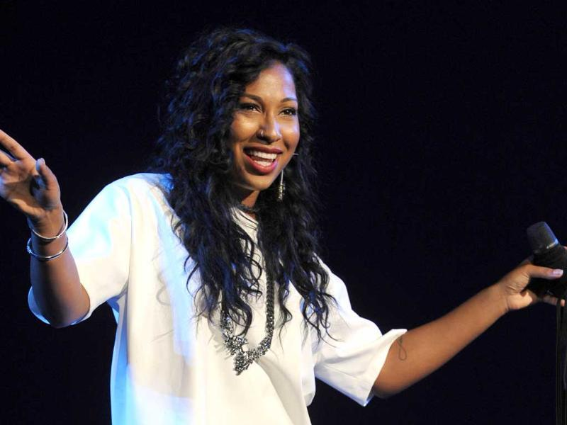Melanie Fiona opens for Beyonce during the Mrs. Carter Show World Tour 2013 at the BET Experience music festival in Los Angeles. AP