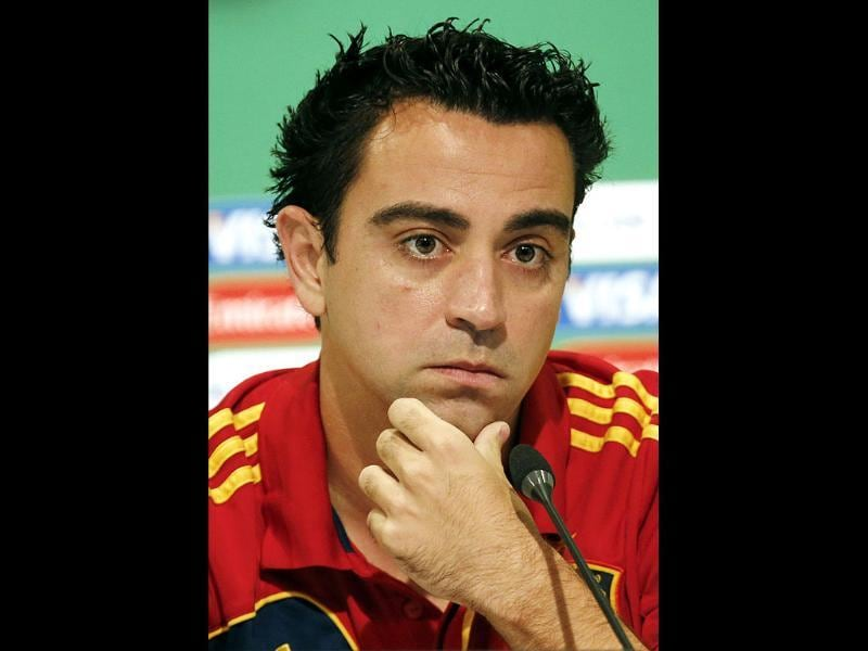 Xavi Hernandez of Spain during a press conference of Spain national team at the soccer Confederations Cup in Rio de Janeiro, Brazil. AP