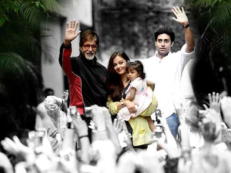 Amitabh Bachchan posted this image on Facebook saying:
