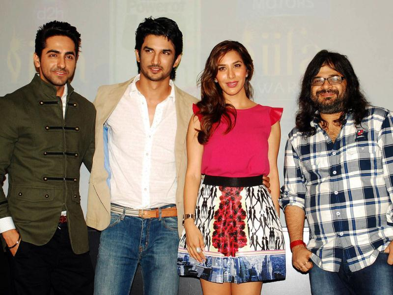 IIFA 2013 held a press conference in Mumbai on July 1, 2013 to announce major events at the award show, scheduled to begin on July 4 in Macau. Bollywood actors Ayushman Khurana, Sushant Singh Rajput, actress Sophie Chaudhry and music director Pritam Sharma were spotted at the event among others. Browse through. (AFP Photo)