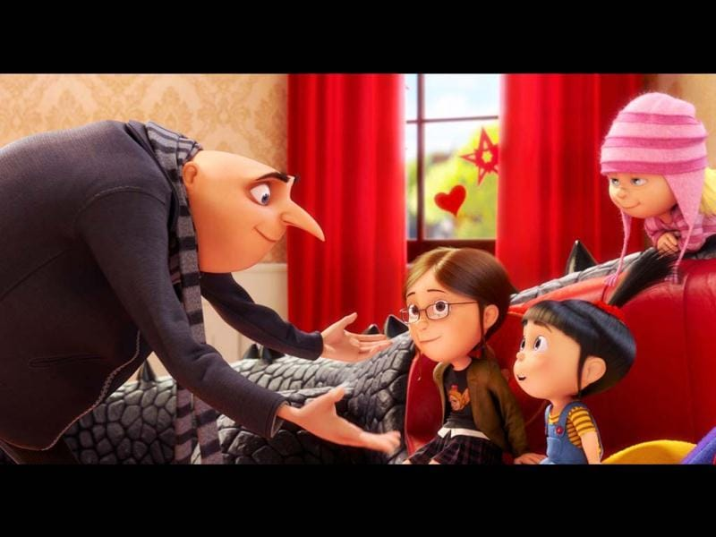 Gru's daughters, the practical Margo (Miranda Cosgrove), the prankster Edith (Dana Gaier) and the absolutely adorable Agnes (Elsie Kate Fisher) too will work their magic.