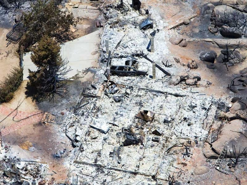 This aerial photo shows Yarnell, Arizona in the aftermath of the Yarnell Hill Fire that claimed the lives of 19 members of an elite firefighting crew. AP Photo