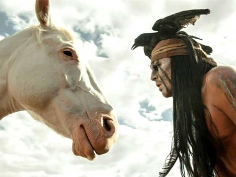 Johnny Depp in The Lone Ranger. The man who stared at horses?
