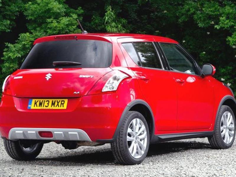 The Swift 4x4 is 65kg heavier than an equivalent 2WD petrol model.