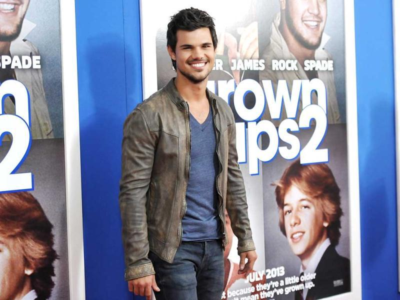 Actor Taylor Lautner attends the premiere of Grown Ups 2 at the AMC Loews Lincoln Square in New York. AP