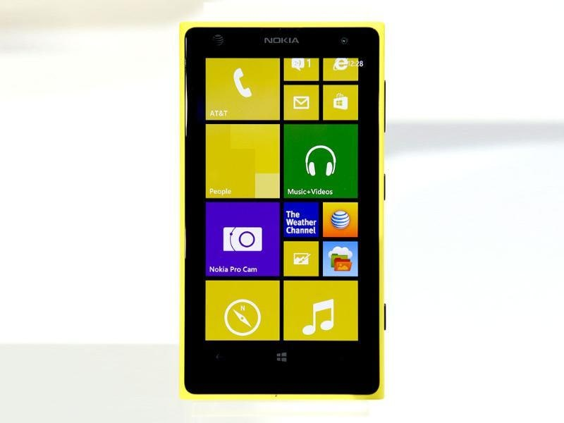 Nokia Lumia 1020, a Windows Phone with a 41-megapixel camera, is unveiled at a event in New York City. Photo: AFP / Timothy Clary