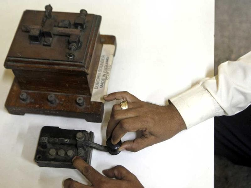 As telegram services come to an end after 160 years of getting people closer, here is a last look of sorts of the telegraphic equipment. (AP Photo)