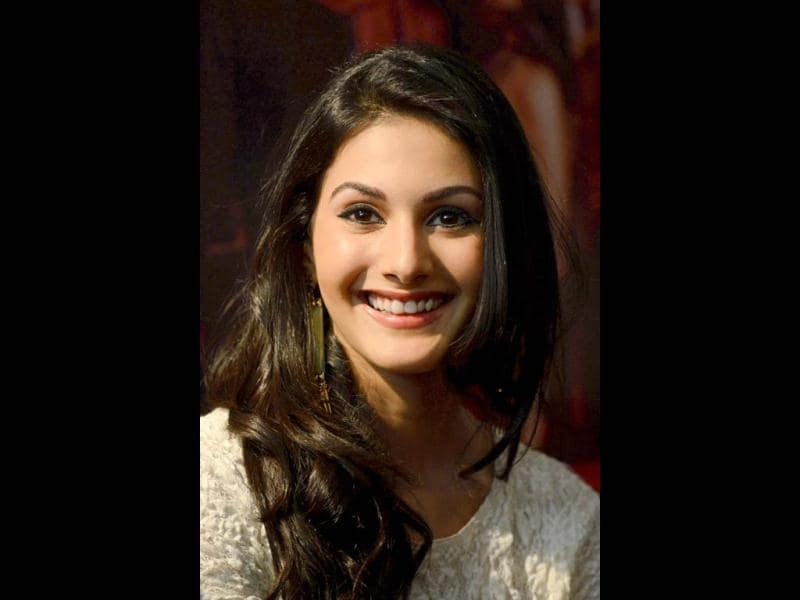Amyra smiles brightly. First film excitement?