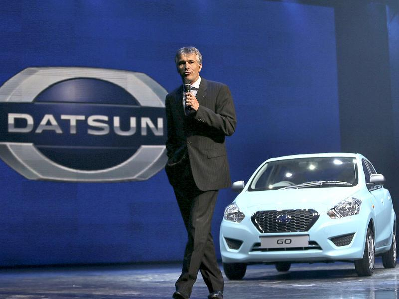 Vincent Cobee, corporate vice president, Datsun Business Unit, Nissan Motors Co, speaks to the media during Datsun Go global launch.(AP Photo)