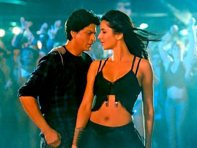 Katrina looked scintillating as she gyrated to Ishq Shava from Jab Tak Hai Jaan with Shah Rukh Khan.