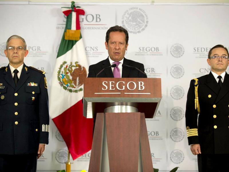 A spokesman presents details of the military operation in which the leader of the Mexican drugs cartel