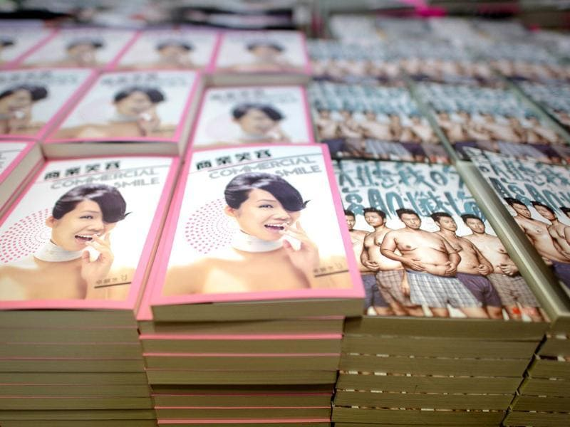 Books are displayed at the Hong Kong Book Fair. Photo: AFP / Philippe Lopez