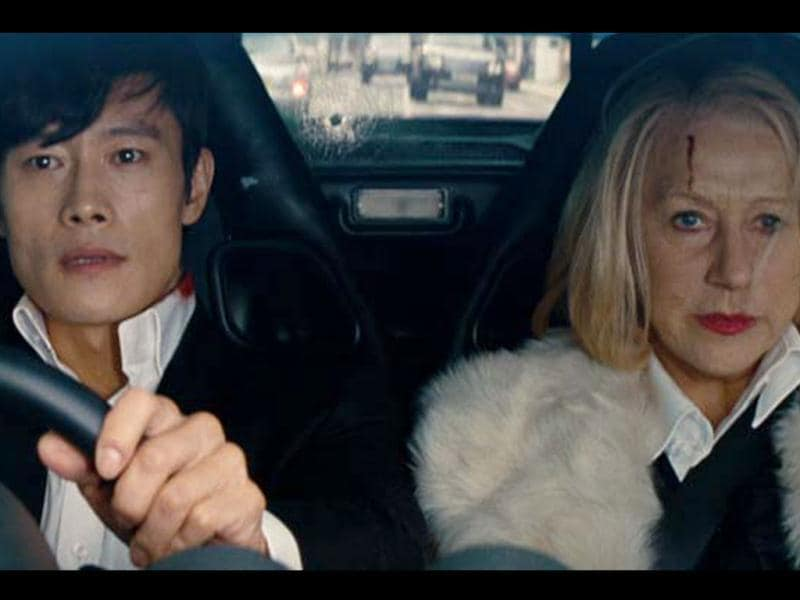 Byung-hun Lee (left) and Helen Mirren also star in the film. Mirren plays a sniper in the film.