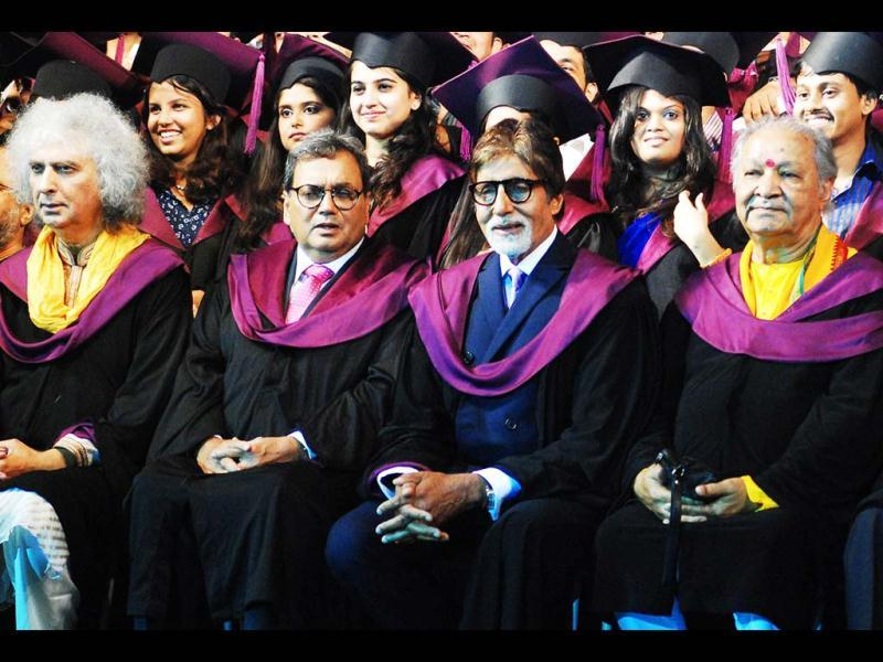 Bachchan with other guests at the convocation