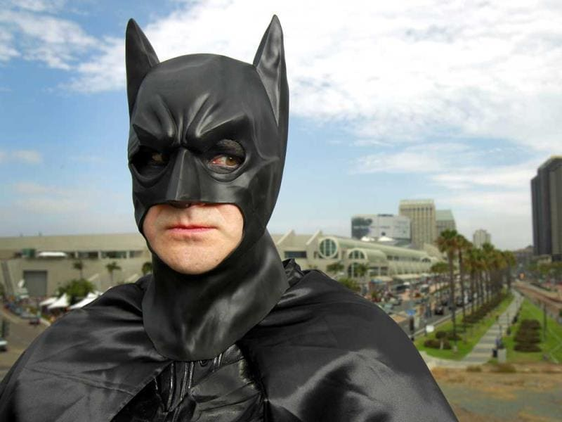 Ted Rotunda poses for a photo dressed as Batman, at Comic Con, in San Diego. (AP Photo)