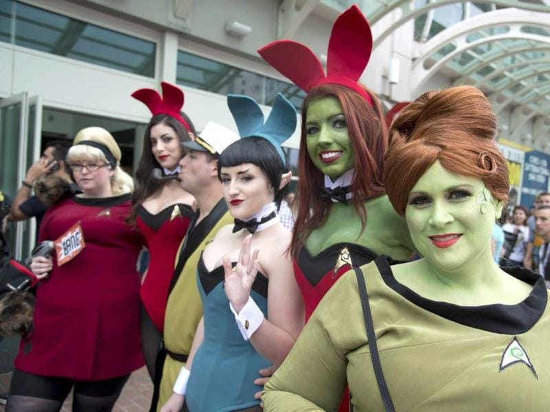 People in Star Trek-themed costumes attend Comic Con 2013 in San Diego, California. (AFP Photo)