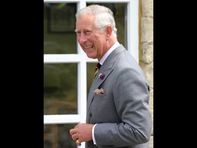 Britain's Prince Charles, Prince of Wales arrives at Dovecote Park in Pontefract, West Yorkshire. (AFP Photo)