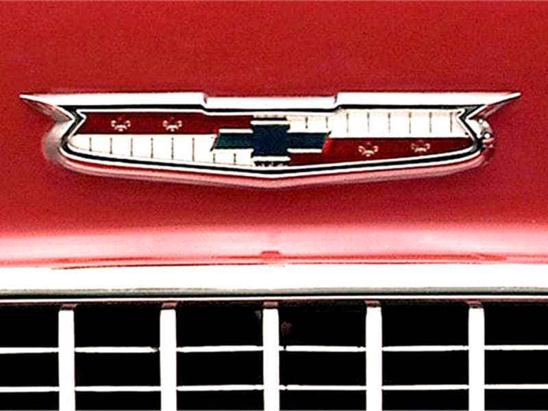 The 1955 Chevrolet BelAir incorporated the logo into a new design