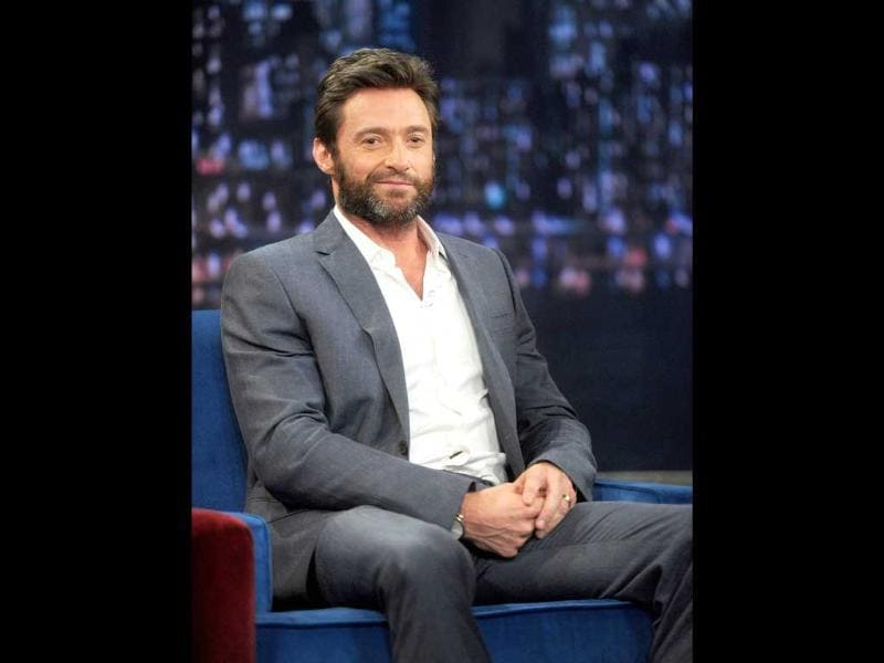 Hugh Jackman visits 'Late Night With Jimmy Fallon' at Rockefeller Center in New York City. (AFP Photo)