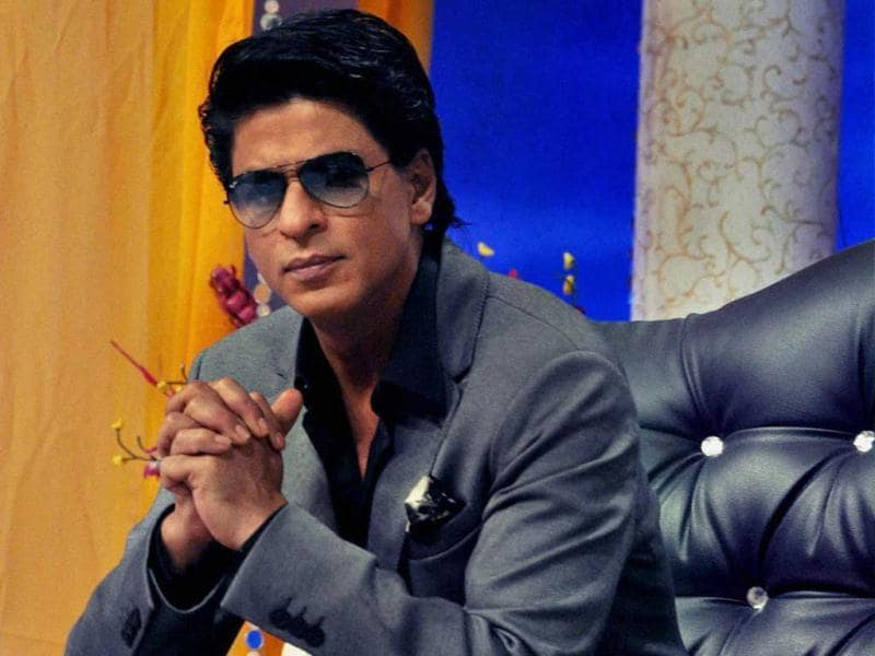 Shahrukh promoting his film on the sets of a TV serial