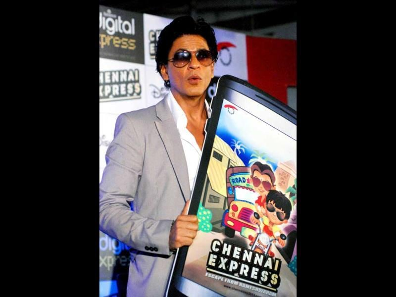 Shahrukh launches the Chennai Express game!