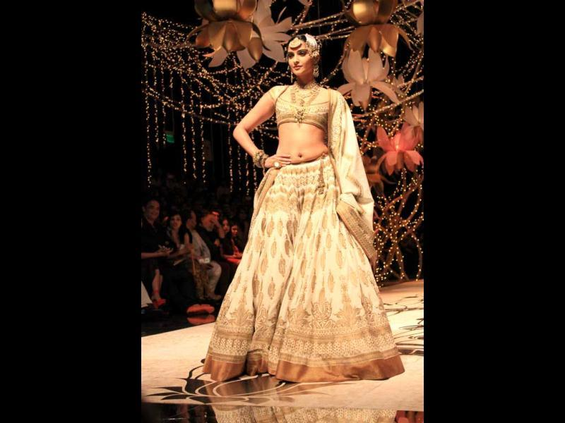 Sonam Kapoor simply stuns in a Rohit Bal creation.