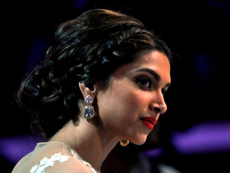 Deepika Padukone looks on as she visits the sets of Indian Idol Junior. (AFP Photo)