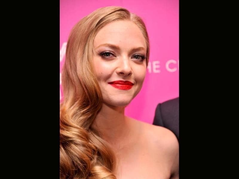 Actress Amanda Seyfried attends The Cinema Society and MCM with Grey Goose screening of Radius TWC's